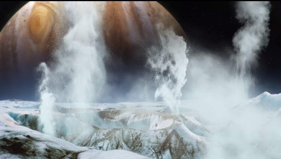 L'esistenza di geyser di acqua sulla luna di Giove potrebbe cambiare la ricerca di vita extraterrestre.