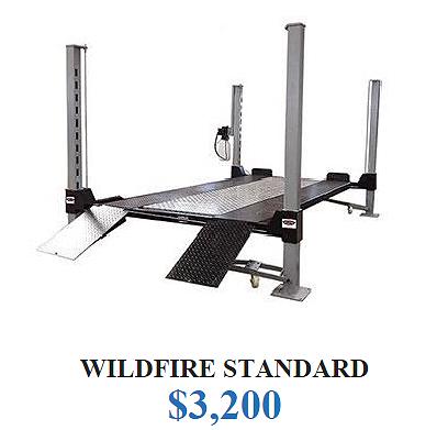 Wildfire Lifts Standard 4 Post Car Lift | Garages | 4 post