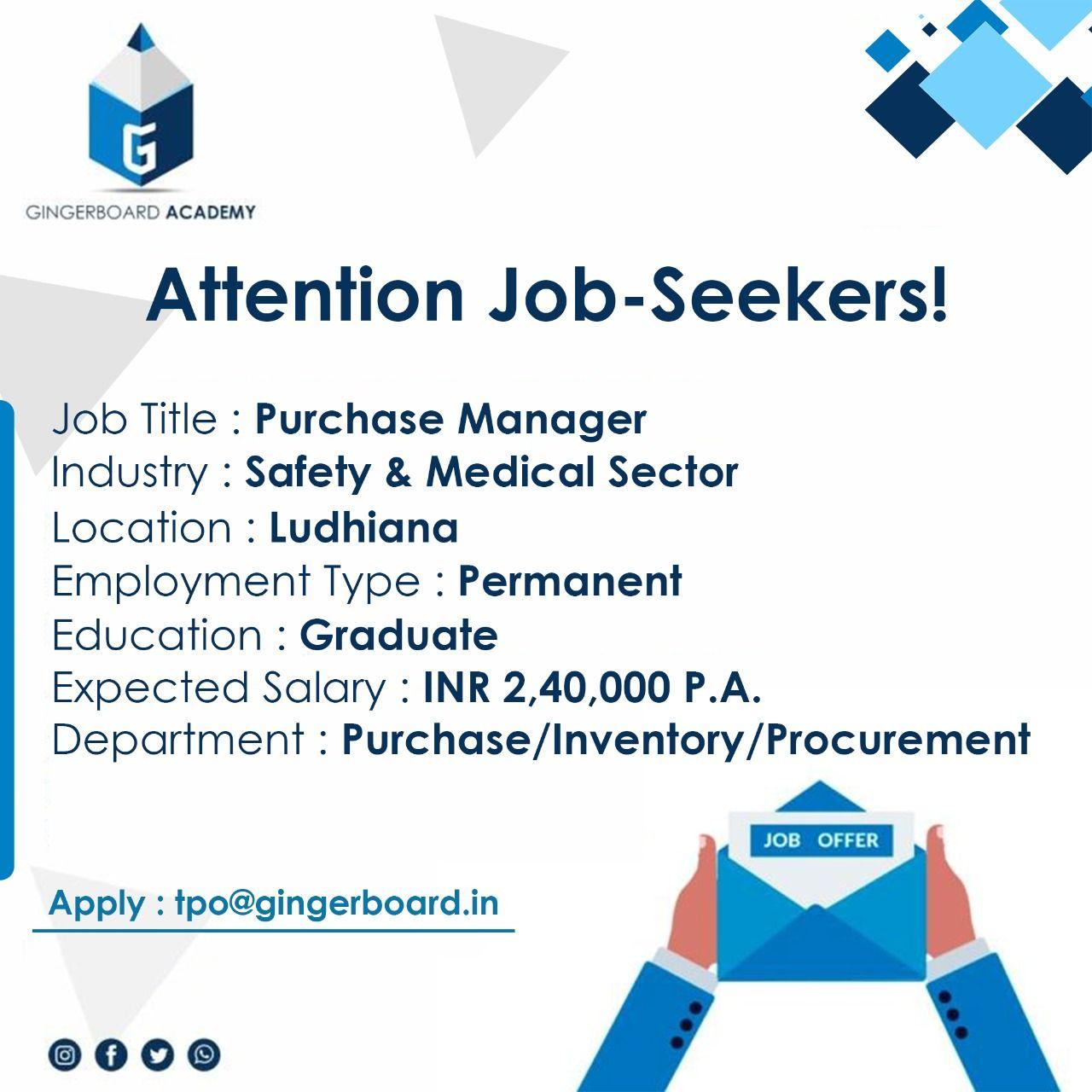 Purchase Manger in Ludhiana in 2020 Job seeker, Job