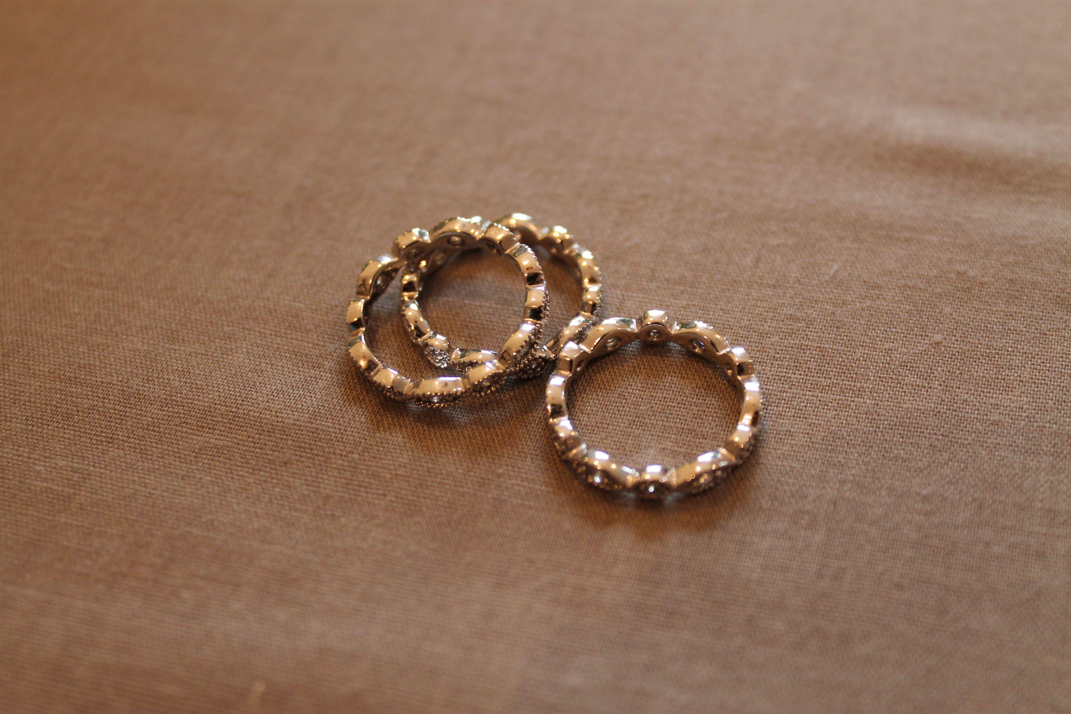stakable deco rings (£40)