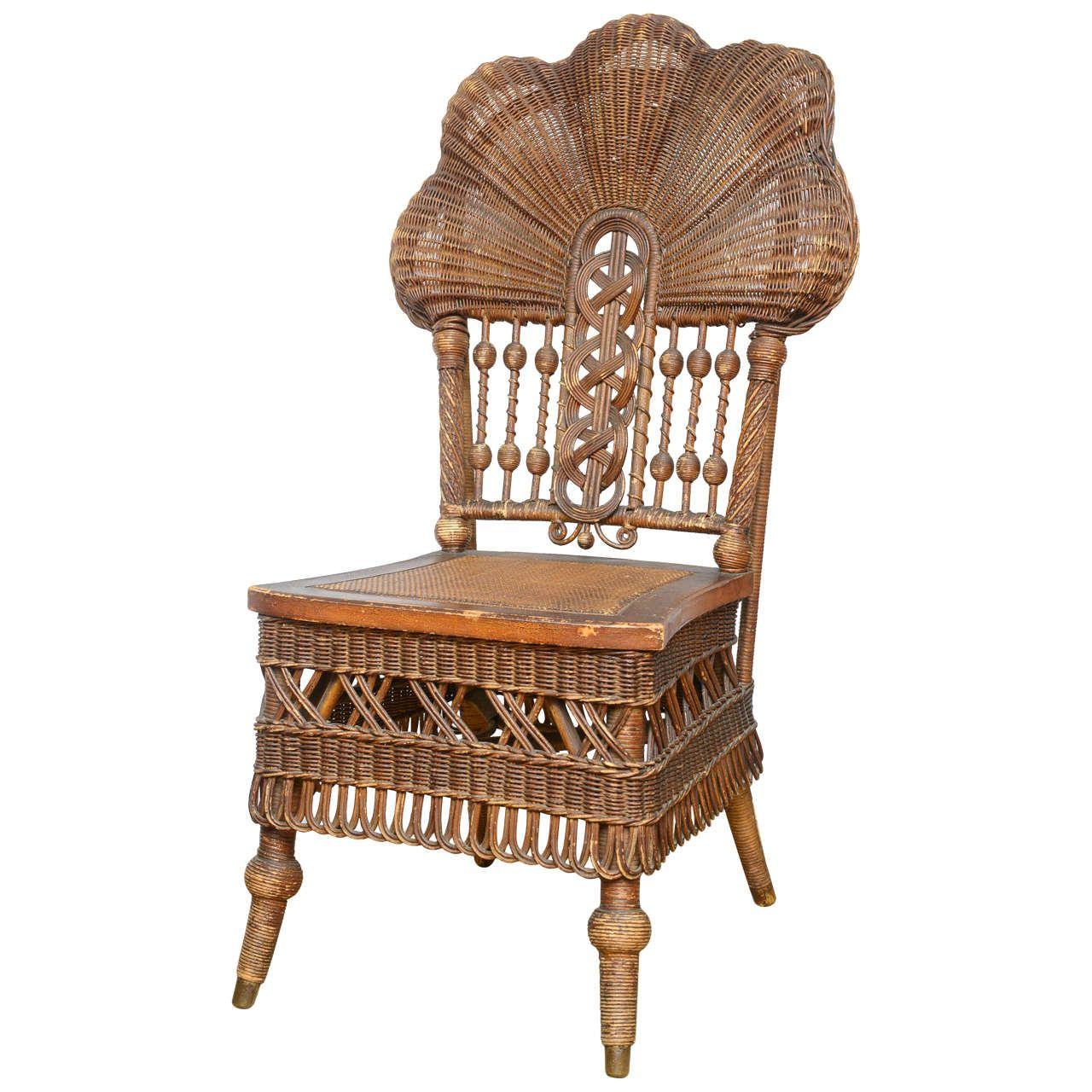 rare heywood-wakefield wicker chair | wicker chairs, wakefield and