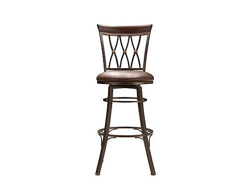 With A Pinch Of Sophistication Dash Of Refinement And Sprinkle Of Comfort This Jolee Leather Swivel Bar Sto Swivel Bar Stools Stool Leather Swivel Bar Stools