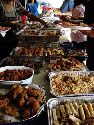 A Typical Filipino Party With Bunch Of Food To Represent My Social And Cultural Background Both Pas Are Come From The