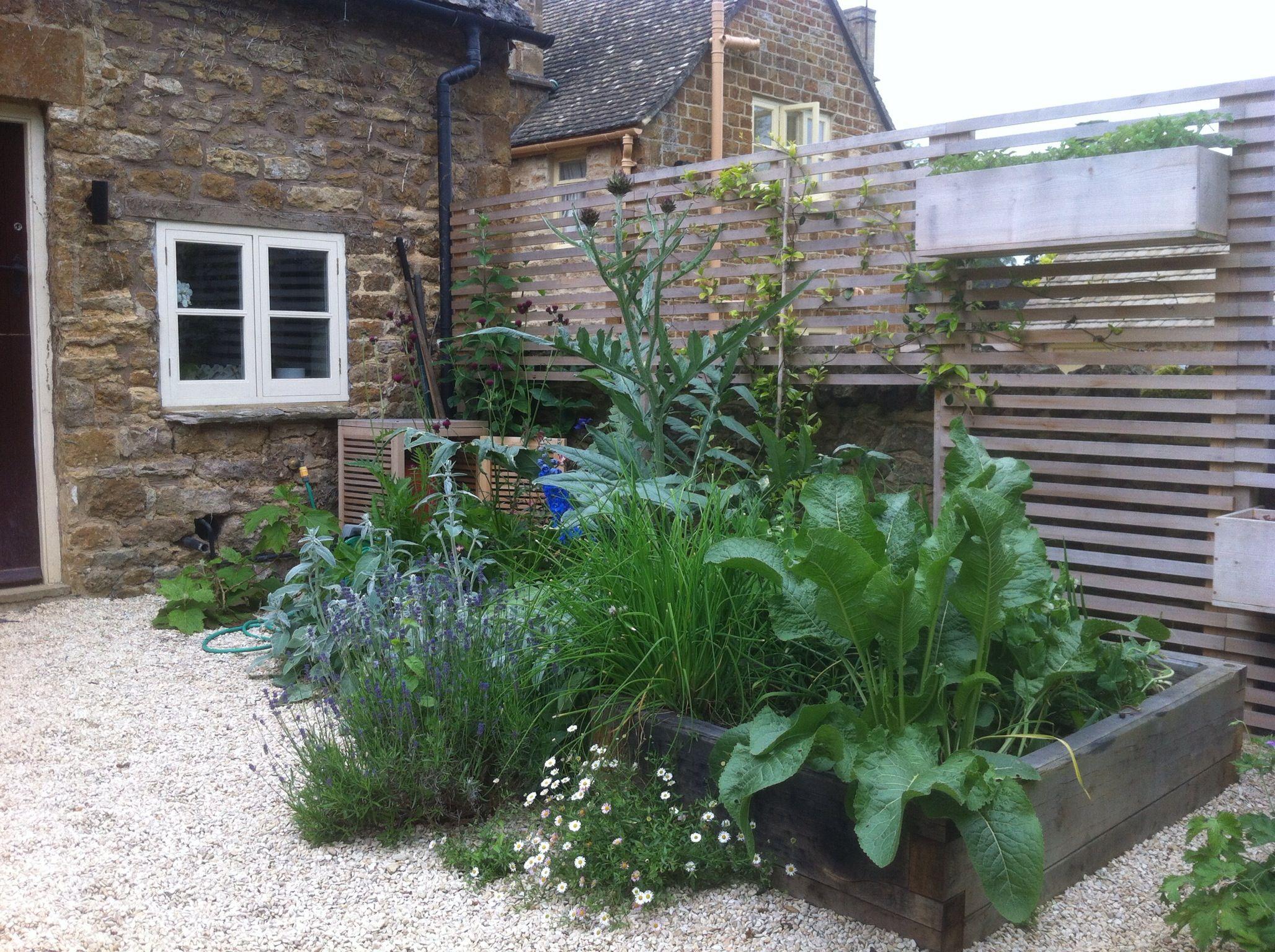 Oak raised beds (With images) Gravel garden, Garden wall