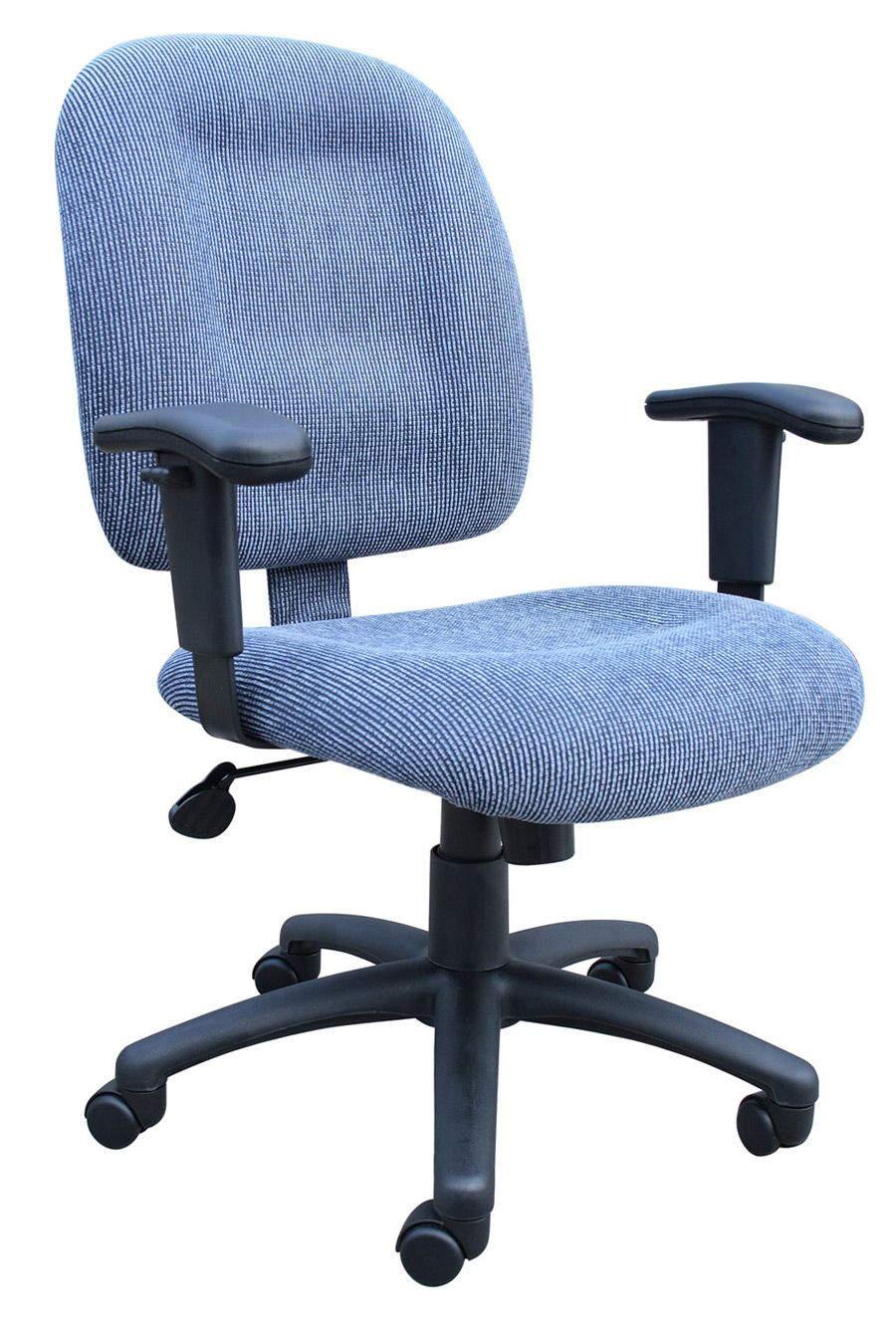 Sky Blue Ergonomic Fabric Task Office Chairs With Adjustable Arms$131.99
