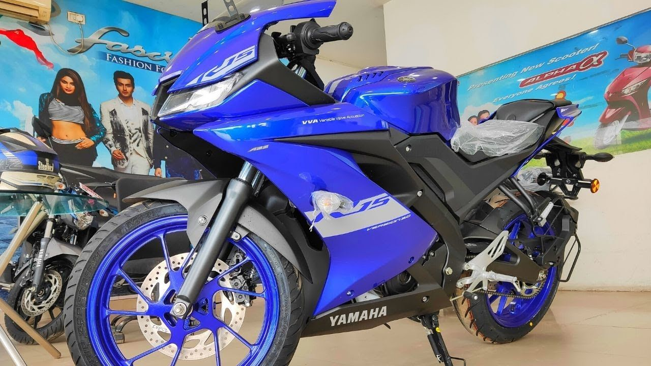 All New Yamaha R15 V3 Bs6 Racing Blue Walkaround First
