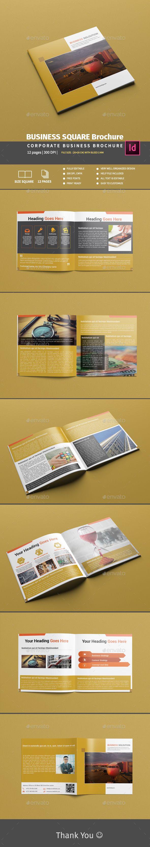 BUSINESS SQUARE Brochure | Kalender und Gestalten