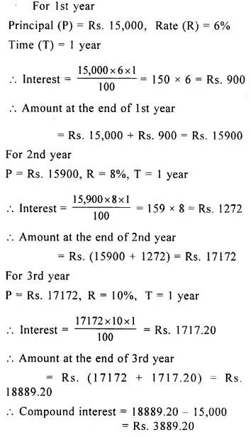 Selina Concise Mathematics Class 8 Icse Solutions Chapter 9 Simple And Compound Interest Cbse Tuts Icsesol Simple Interest Math Studying Math Math Methods