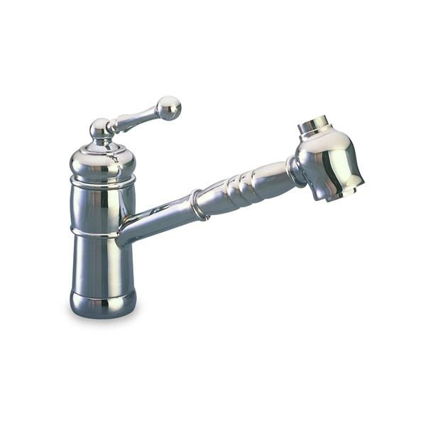 Victorian Single Hole Kitchen Faucet W Pull Out Spray Up Off Down On From Harrington Brass Single Hole Kitchen Faucet Kitchen Faucet Faucet