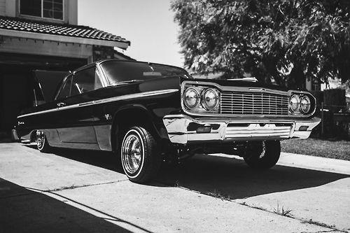 Tan 1964 Chevy Impala Lowrider Drop Top Hd Wallpaper Lowriders