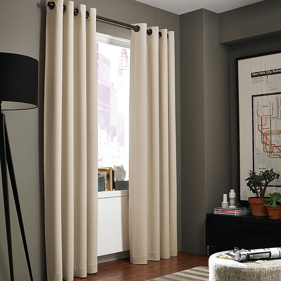 Kenneth Cole Reaction Home Gotham Texture Lined Grommet Window