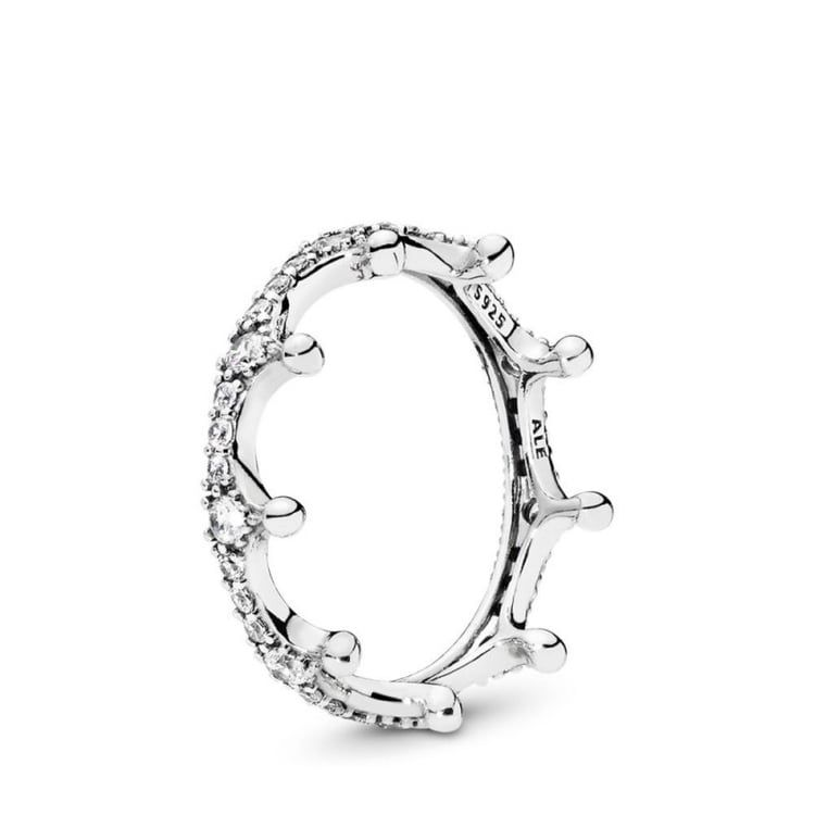 anello corona pandora rosa