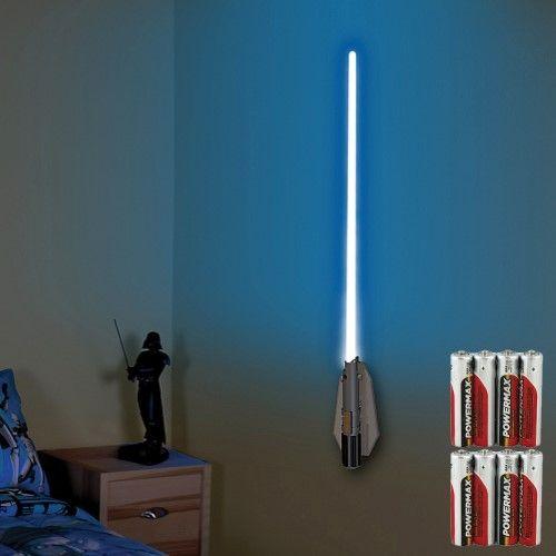 Star Wars Deluxe Color Changing Lightsaber Room Light W Remote Batteries Star Wars Bedroom Room Lights Star Wars Light Saber