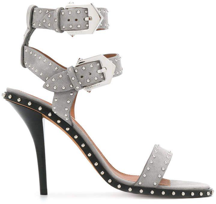 b059d5b2aa9 Givenchy studded open-toe sandals Grey High Heels