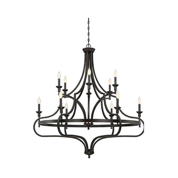 Savoy House Shiel English Bronze 48-Inch Twelve-Light Chandelier ($1,098) ❤ liked on Polyvore featuring home, lighting, ceiling lights, savoy house chandelier, 12v light, savoy house, 12 arm chandelier and savoy house lighting