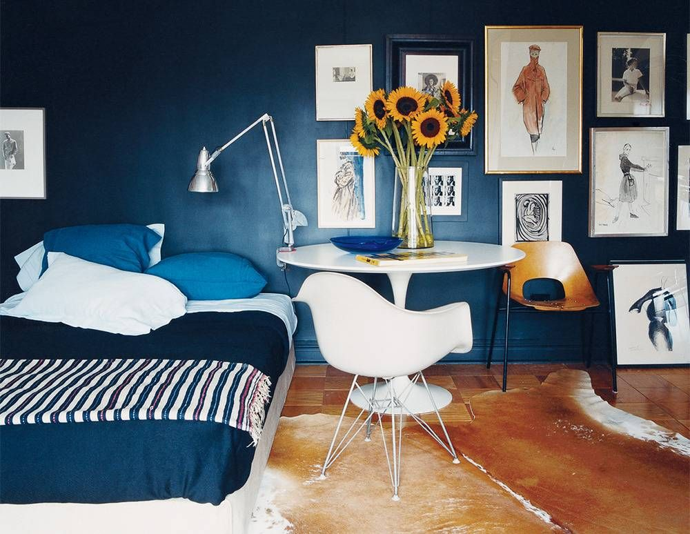 decorating with blue Laminas