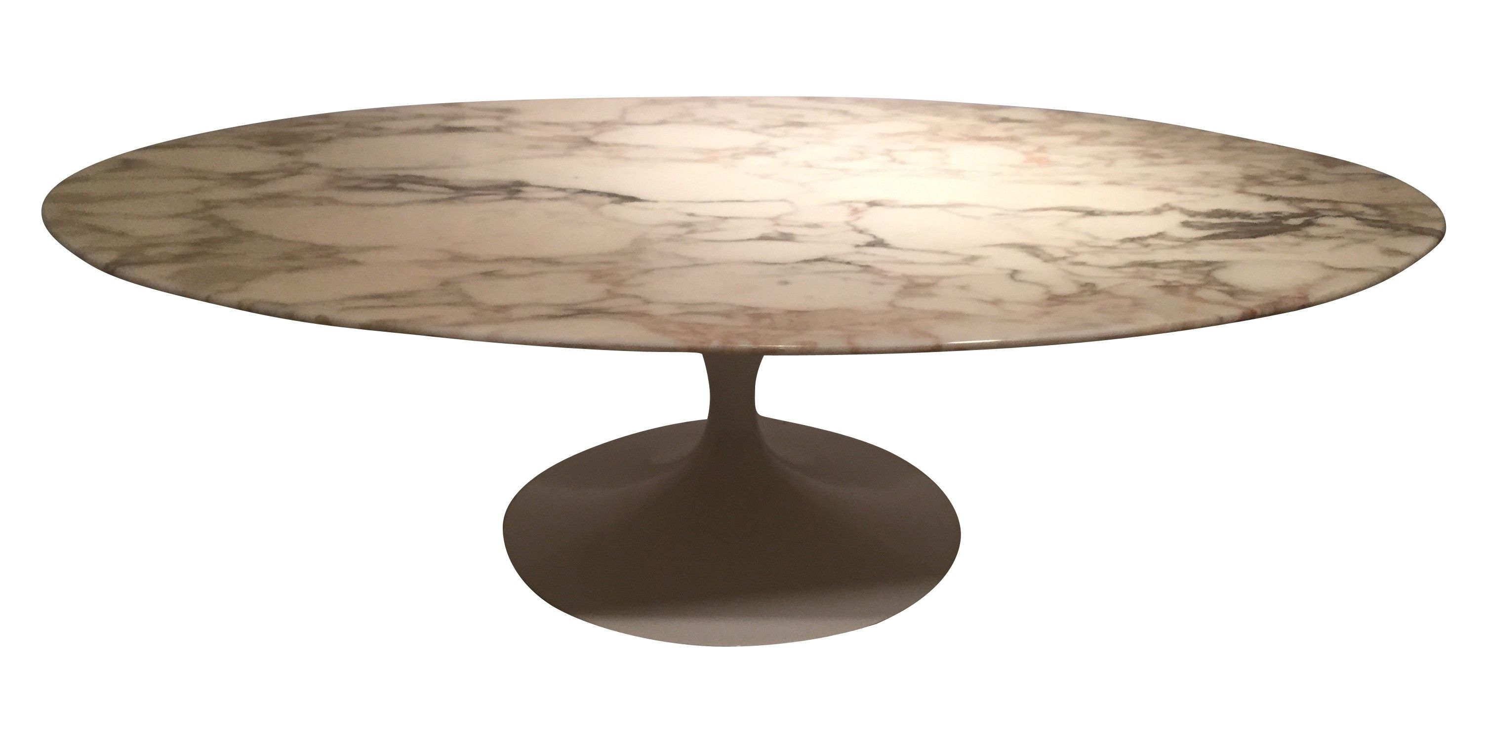 Grande table basse ovale en marbre eero saarinen ann es for Table basse gigogne ronde bois