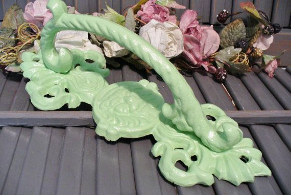 Large Cast Iron Lions Head Decorative Door Handle / Pull Victorian Shabby Cottage Chic Style