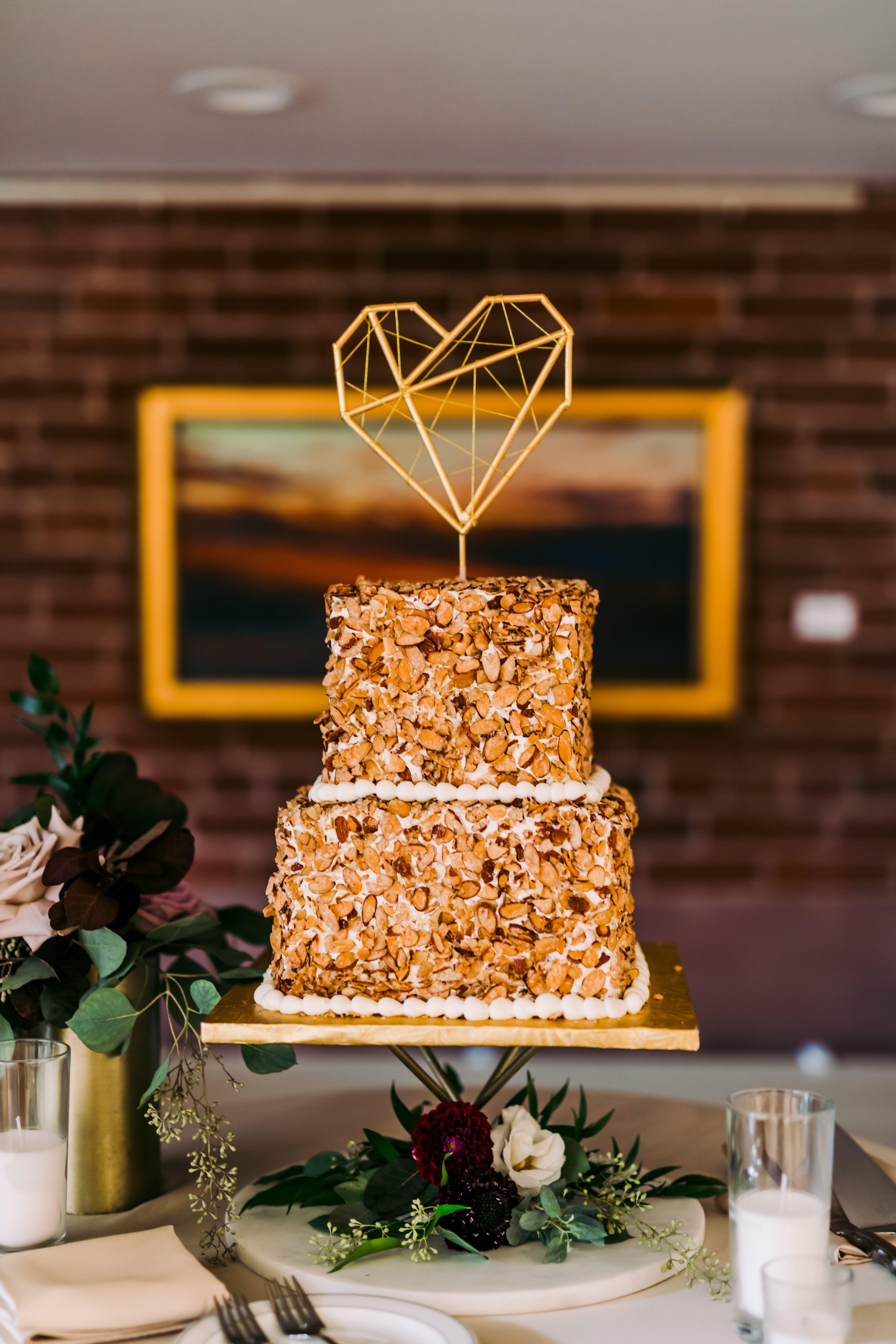 Almond wedding cake krystal healy photography almond