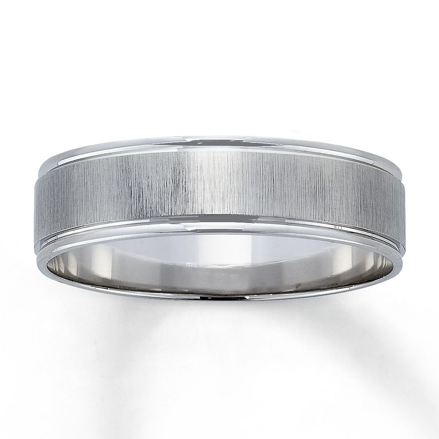 Kay - Men's Wedding Band 10K White Gold