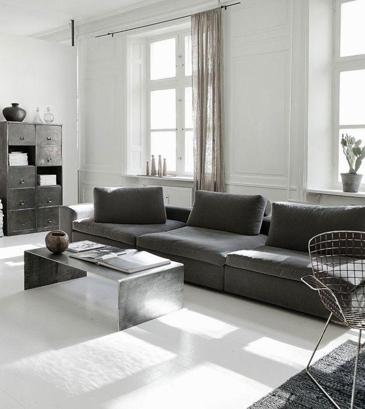 Acero gris plata minimalismo y elegancia  Interior