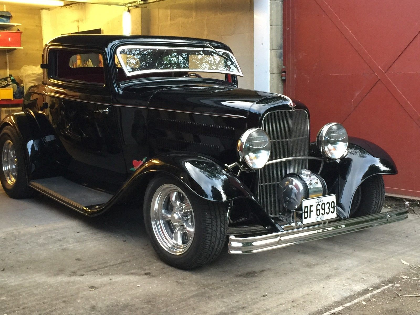 eBay: 1930's Ford 3-window chopped deuce coupe #pre1960s