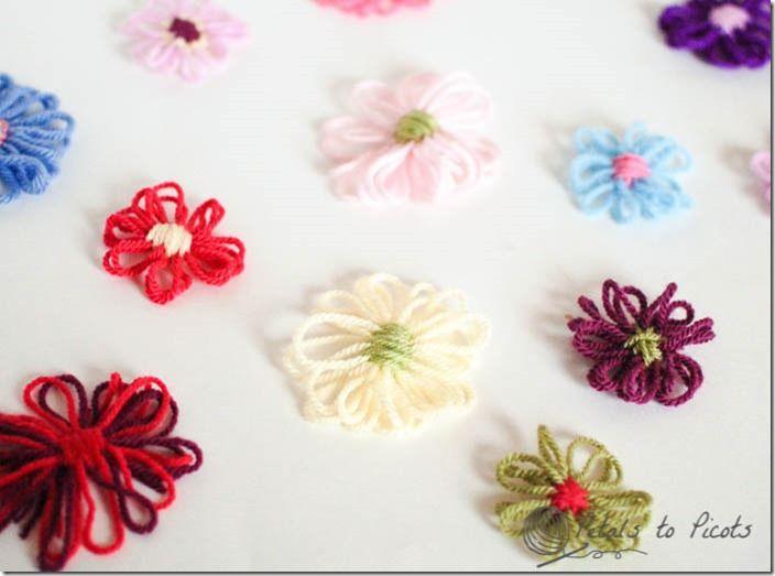 Flower Loom Template | Bordado de flores, Telar y Bichos