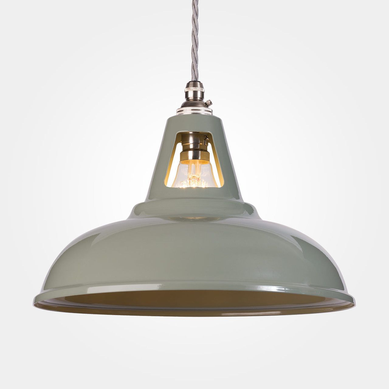 Coolicon industrial pendant light olive grey pendant lamps