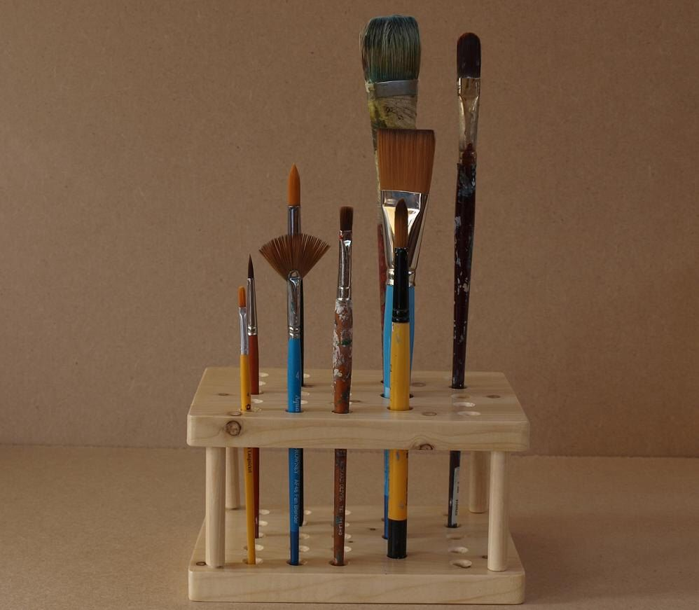 Artists paint brush holder stand personalised etsy