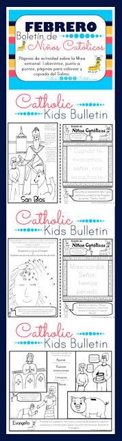 FREE PRINTABLE! Febrero Boletin de Ninos Catolicos Cuaresma