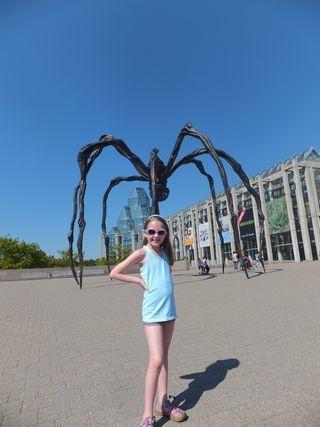 Emma outside National Gallery of Canada in Ottawa