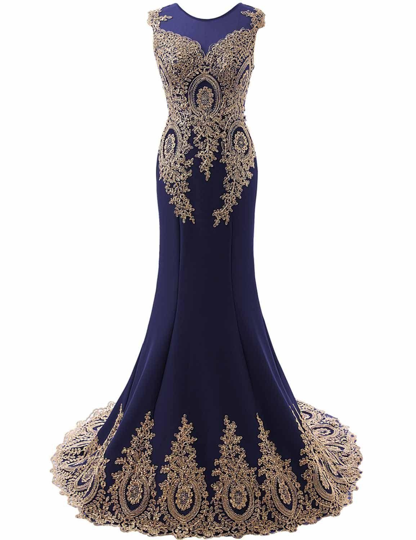 Exlinalesha womenus prom dresses long mermaid evening gowns navy