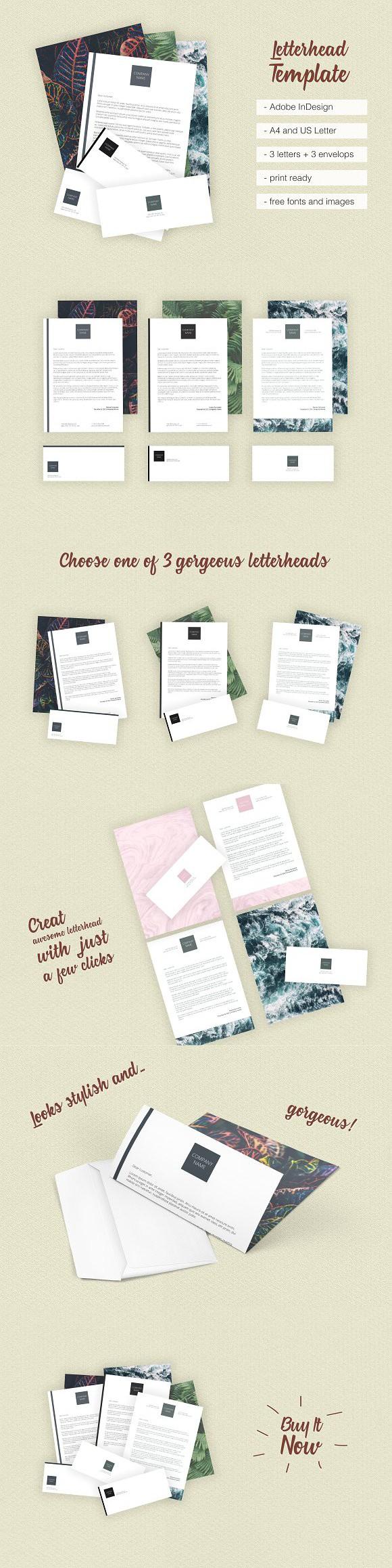 letter format on letterhead%0A Asian Dream Letterhead Template  Stationery Templates