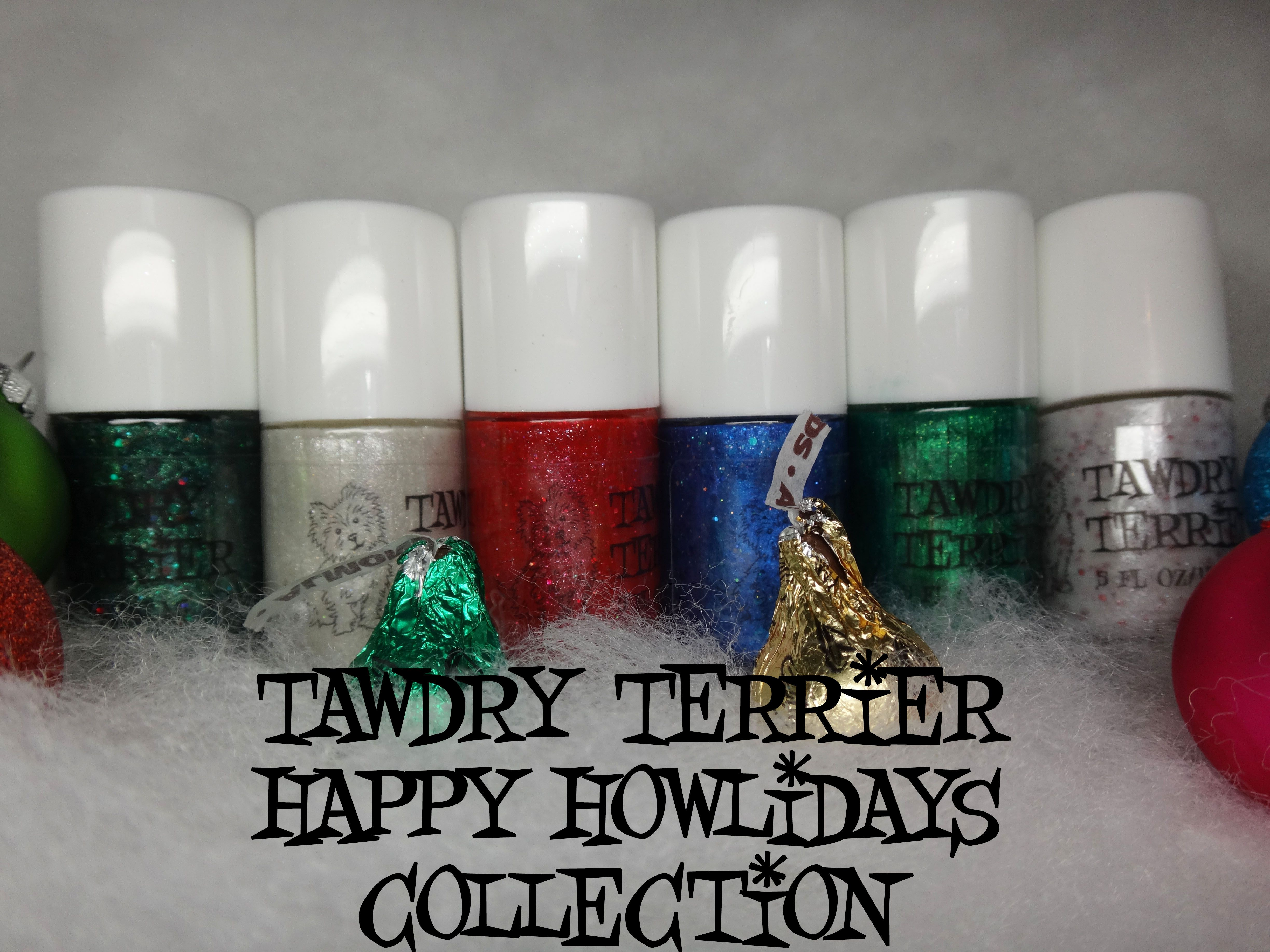 New additions to the @TawdryTerrier Happy Howlidays collection - coming soon at https://www.etsy.com/shop/TawdryTerrier #nailpolish #indienailpolish #tawdryterrier #christmas