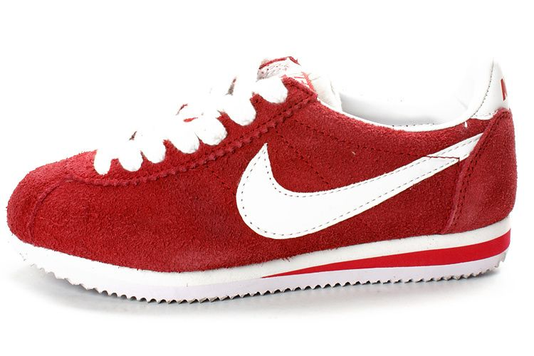 red nike cortez suede