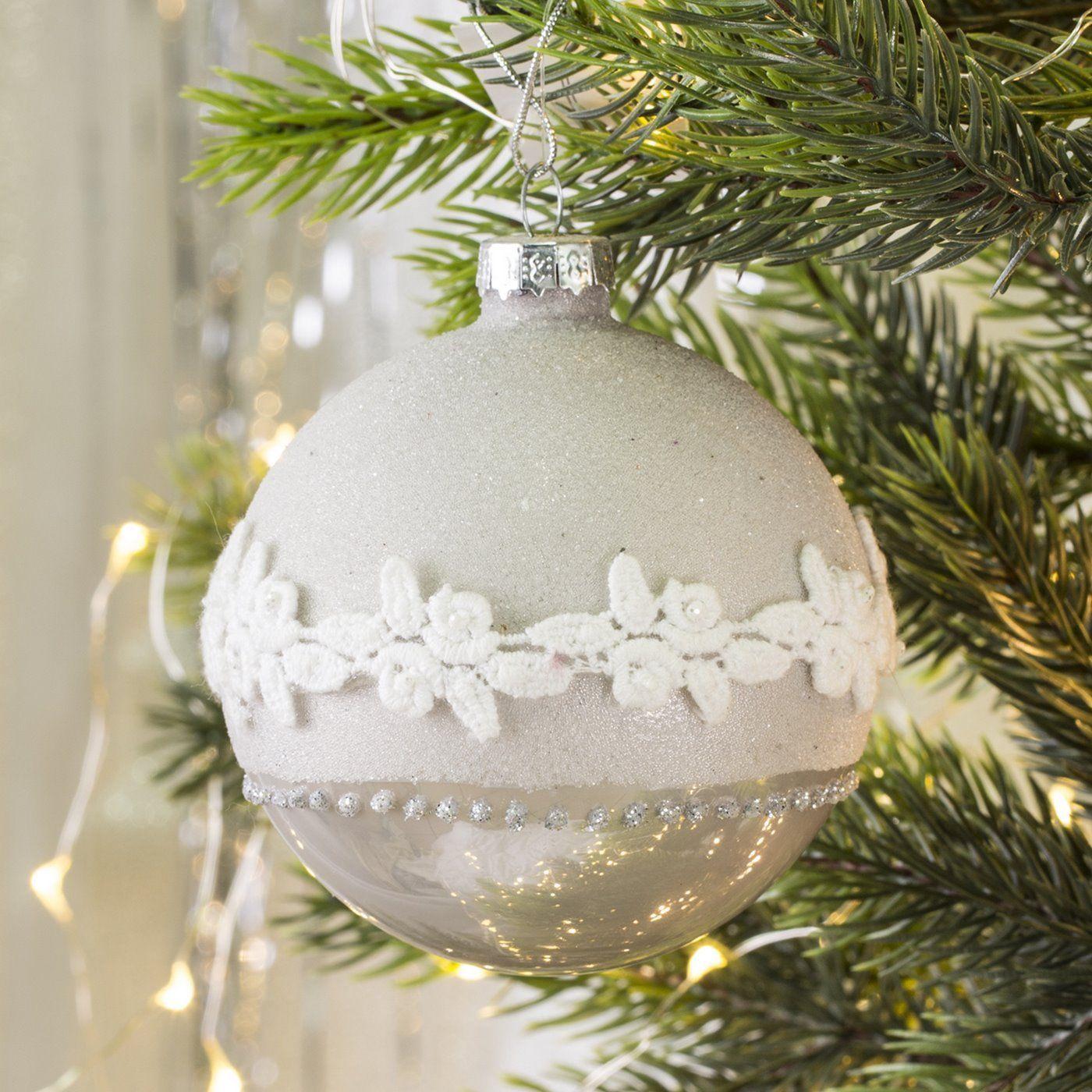 Bombka Vani Oryginalna Bombka Szklana Vani O Dwoch Fakturach Gladkiej I Lsniacej Oraz Obsypanej Drobnym Pia Christmas Bulbs Christmas Ornaments Holiday Decor