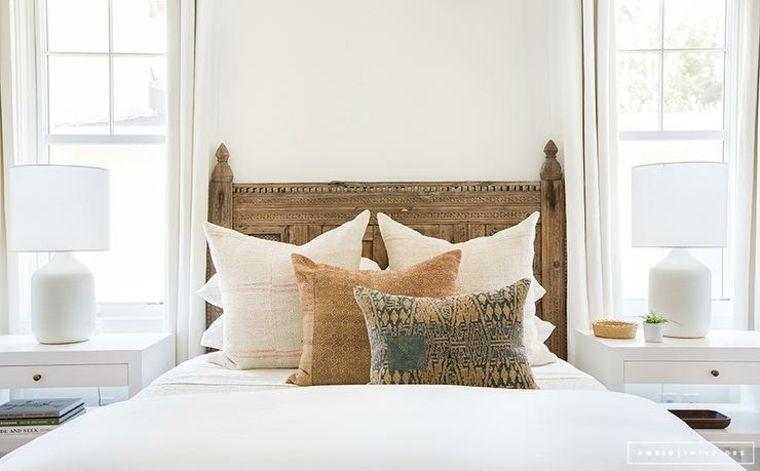 Cabecero de cama original y moderno ideas y dise os que amar s en 2018 dormitorio - Cabecero madera tallada ...