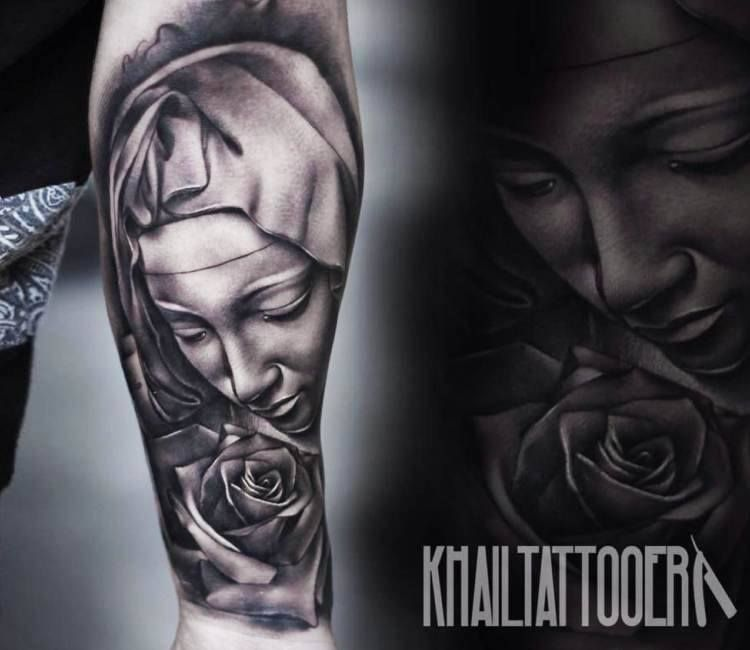 Virgin Mary - Day of the Dead Style Tattoo | Tattoos