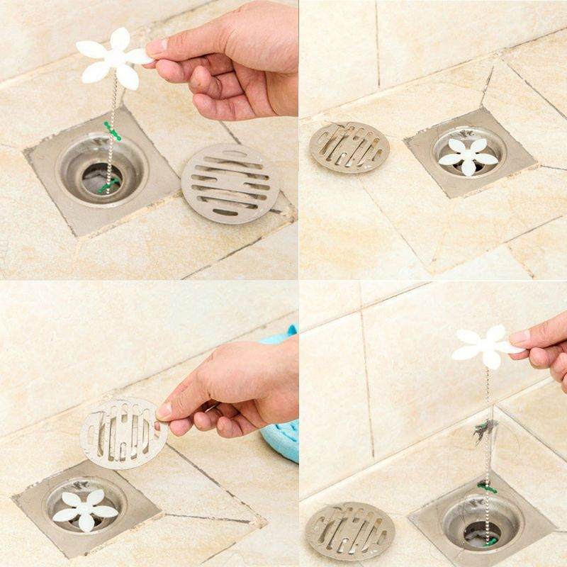 hot home bathroom shower drain chain cleaner hair clog remover cleaning tools