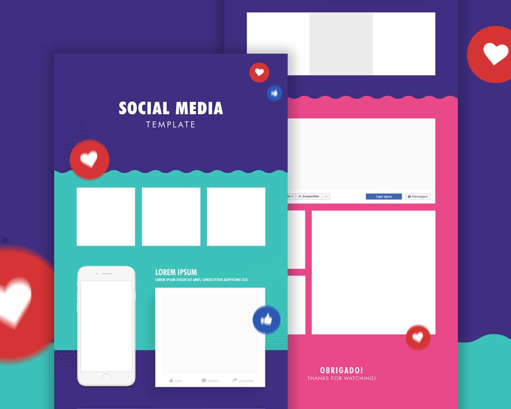 Download Social Media Template Psd Here Is A Mockup Which You Can Use To Create Your Social Medi Social Media Mockup Social Media Report Social Media Template