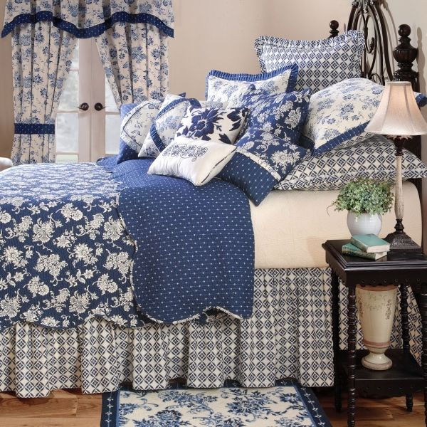 Stafford Royal Bedding - A bit too many pillows but love all the fabrics!