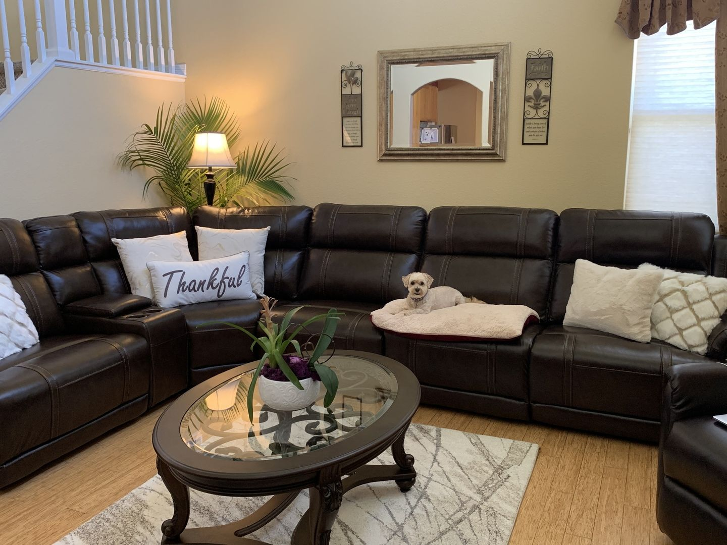 Sullivan 6PC Leather Power Reclining Sectional Reclining
