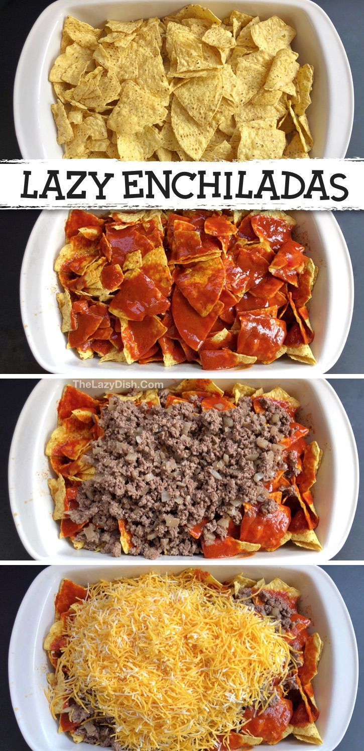 My family LOVES this easy dinner recipe! (Lazy Echilada Casserole)