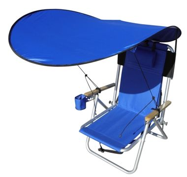 lawn chair with canopy butcher block table and chairs add a detachable shade to your wearever backpack order for just 19 95