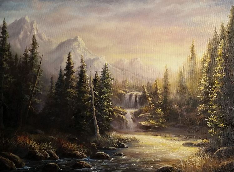 Sparkling Mountain Stream Paint With Kevin Kevin Hill Paintings Landscape Artist Landscape Paintings