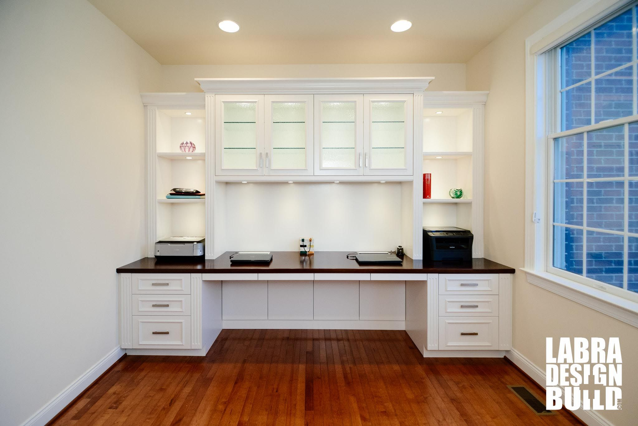 Traditional White Painted Maple Built-In Desk Northville MI ...