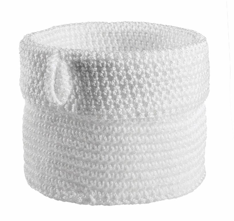 Spirella White Shower Basket From The Hamptons Collection White