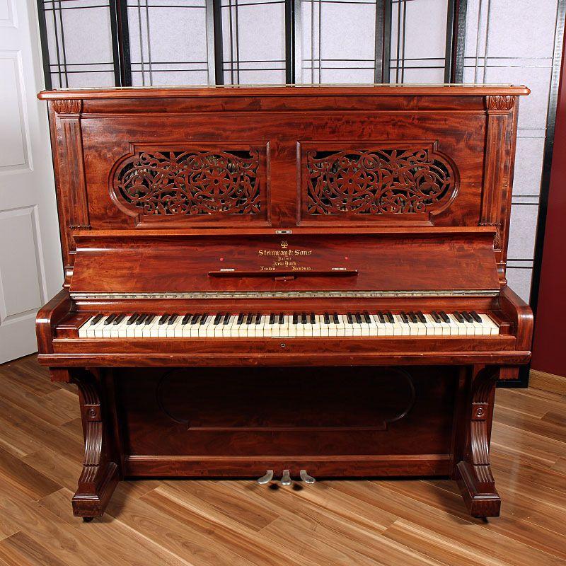 1890 Steinway Upright Lindeblad Piano Restoration Steinway