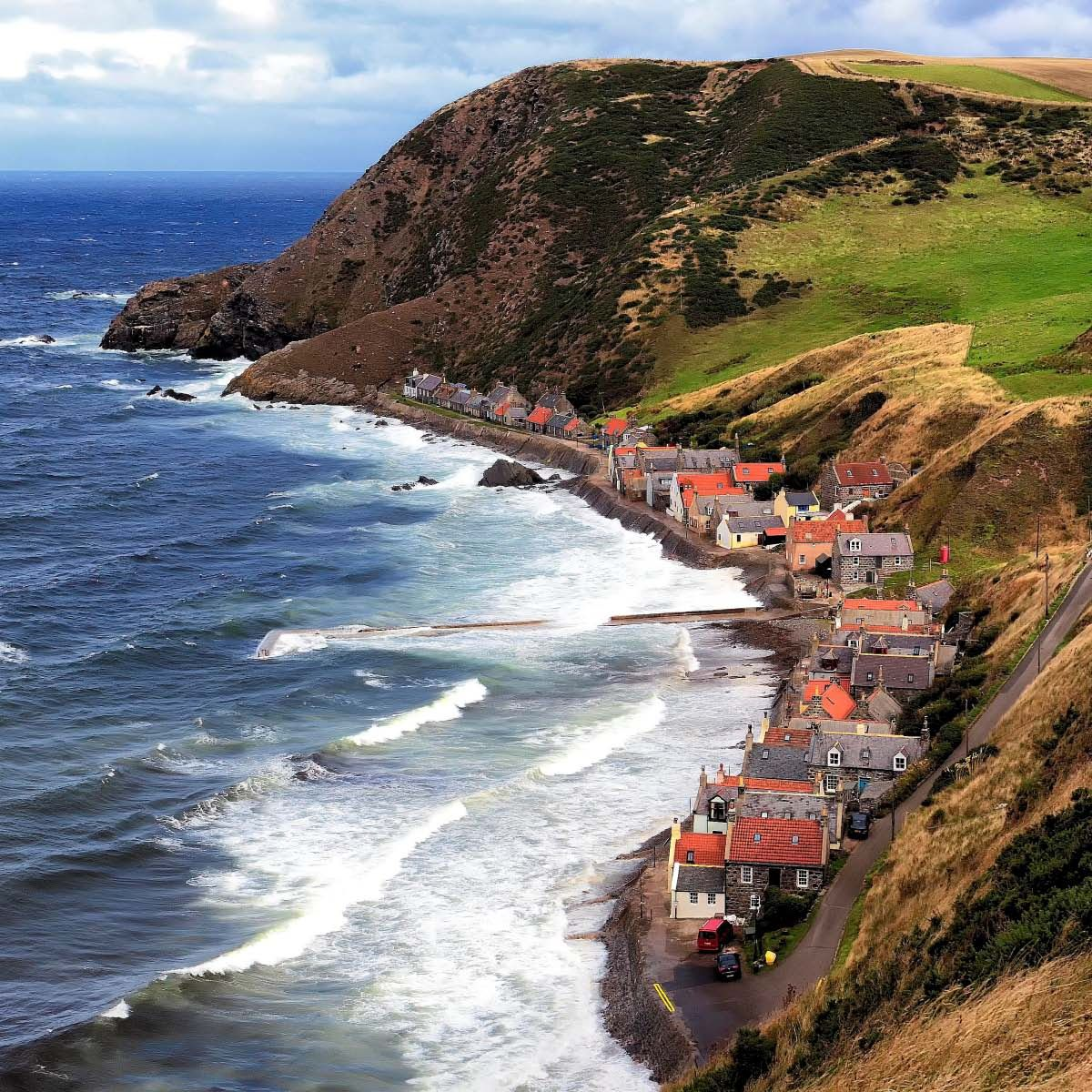 Amazing Places To See Scotland: Crovie Is A Small Village In Aberdeenshire, Scotland, UK