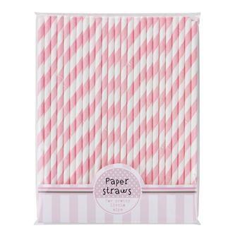 Talking Tables Paper Straws Pink x30